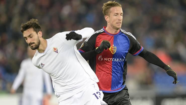 Davide Astori hat auch gegen Marc Janko gespielt