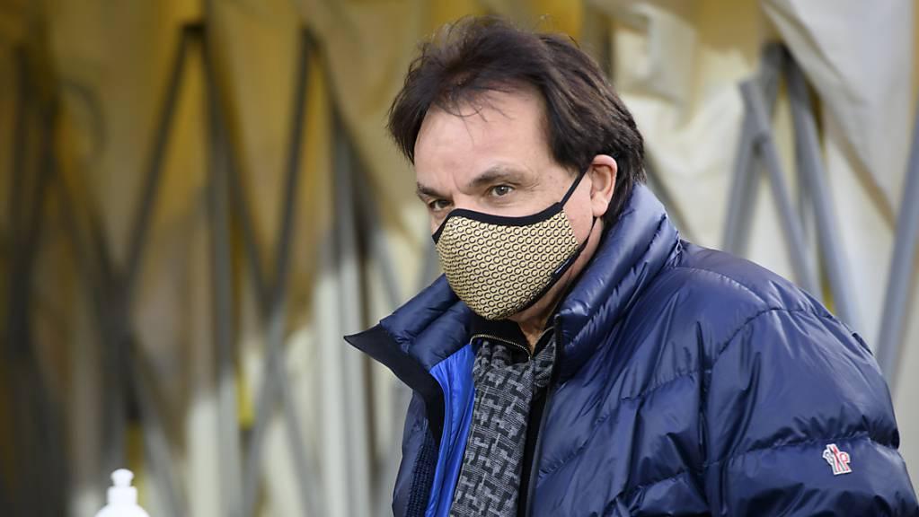Sion-Präsident Christian Constantin will sich am Montag auf die Suche nach einem neuen Trainer machen