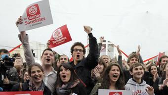 Jubel bei jungen Sozialisten: Das linke Lager hat die Nase vorn