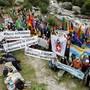 Die Feier diente auch der Unterstützung der «Gletscherinitiative», die fossile Treibstoffe ab 2050 verbieten will.