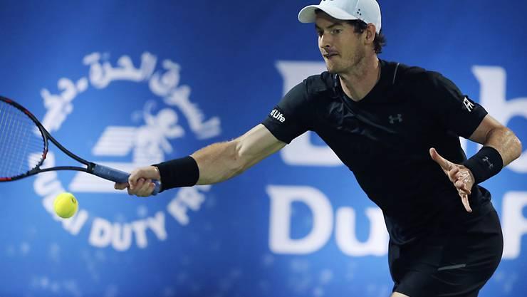 In Dubai treffsicher und erstmals in diesem Jahr in einem Final siegreich: Andy Murray
