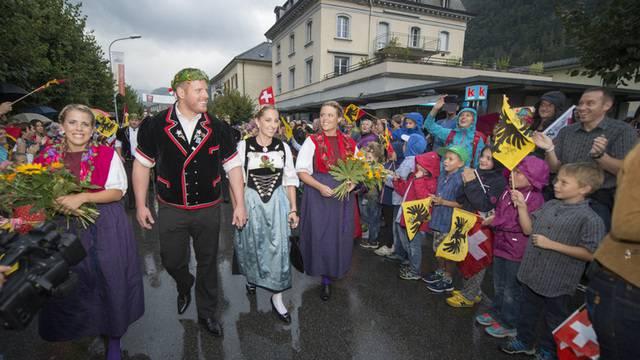 König Glarner wird in seinem Heimatdorf empfangen