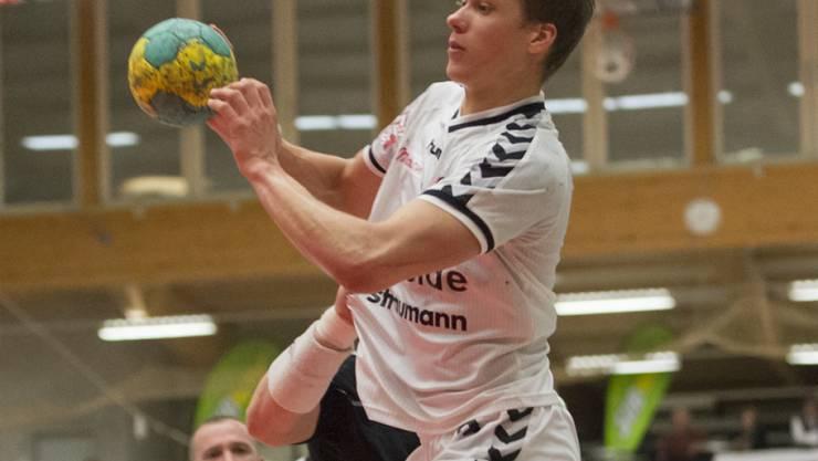 Marcel Lengacher ist mit sechs Treffern am Sieg der Berner beteiligt (Archiv)