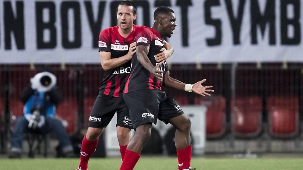 Raphaël Nuzzolo und Afimico Pululu waren die Torschützen beim 3:1 von Neuchâtel Xamax gegen Sion