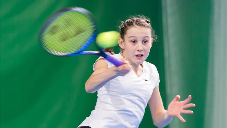 Anina Lanz aus Hägendorf. Die junge Spielerin konnte beim internationalen U14-Turnier in Montreux überzeugen.