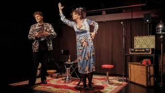 Enzo und Rosetta Lopardo bei der Premiere im Basler Teufelhof.