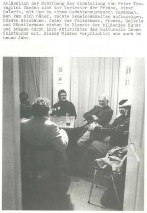 Altes Gruppenbild mit der Presse.