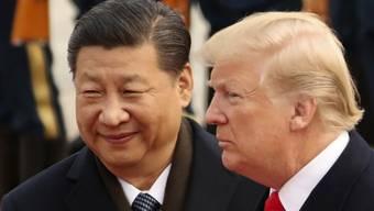 Chinas Präsident Xi Jinping hat US-Präsident Donald Trump am Dienstag eine versöhnliche Hand gereicht und die Vorzüge von Zusammenarbeit gelobt. (Archivbild)