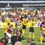 Das Grenchner Traditionsturnier Uhrencup - im Bild das Spiel aus dem Jahr 2011 zwischen YB und West Ham United (welches die Berner mit 2:1 gewannen) steht vor einem Comeback.