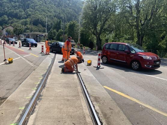 Im Sommer wurde erkannt, dass die Gleise bei der Thalbrücke stark sanierungsbedürftig sind