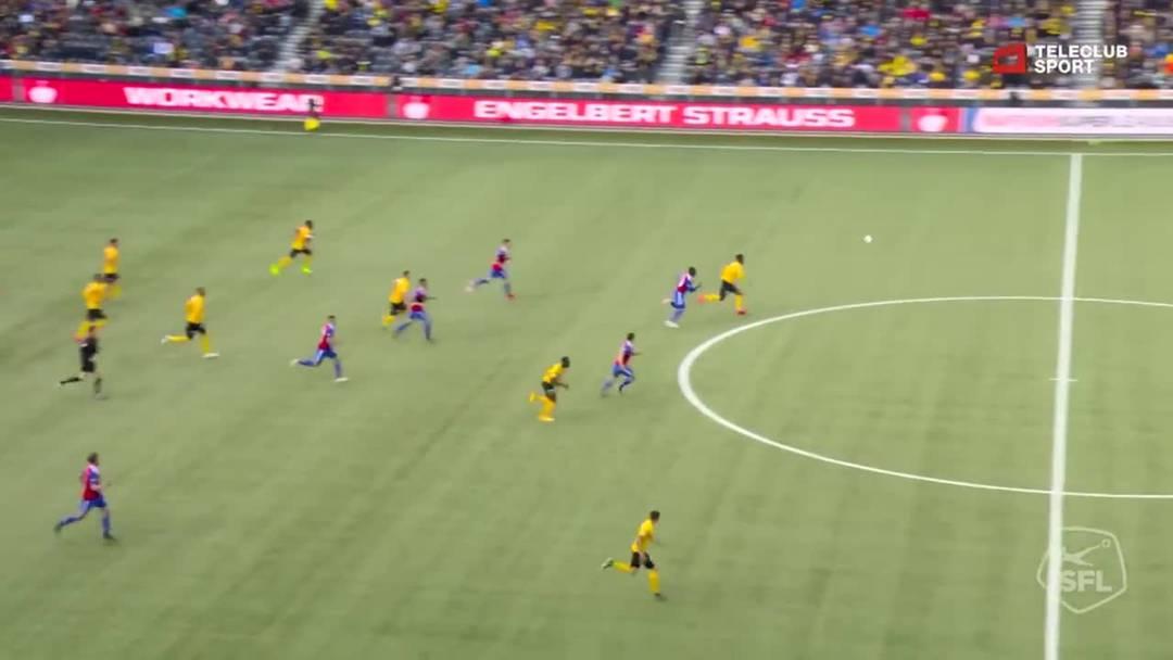 Super League, 2018/19, 33. Runde, YB - FC Basel, 81. Minute: Tor  von Nicolas Moumi Ngamaleu.