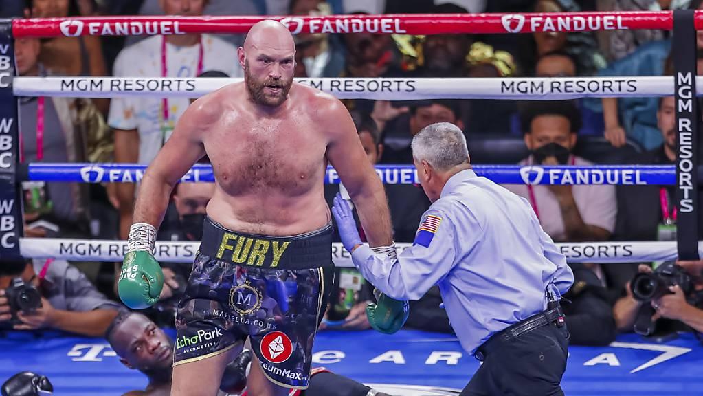 Gegen die Urgewalt von Tyson Fury ist auch Deontay Wilder machtlos.