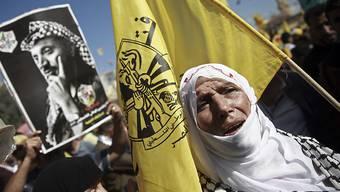 Palästinenser im Gazastreifen gedenken Arafat.