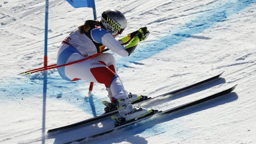 Corinne Suter beim ersten Rennen an der WM in Are.