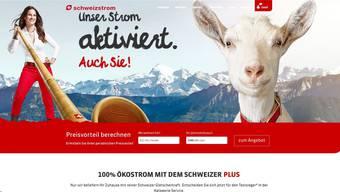 Mit den Schweiz-Klischees Alphorn, Geiss und Schneeberge buhlt die Liestaler EBL in Deutschland um Neukunden.