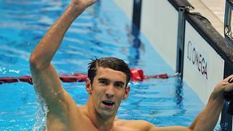 Michael Phelps gewinnt auch über 100 m Delfin Gold.