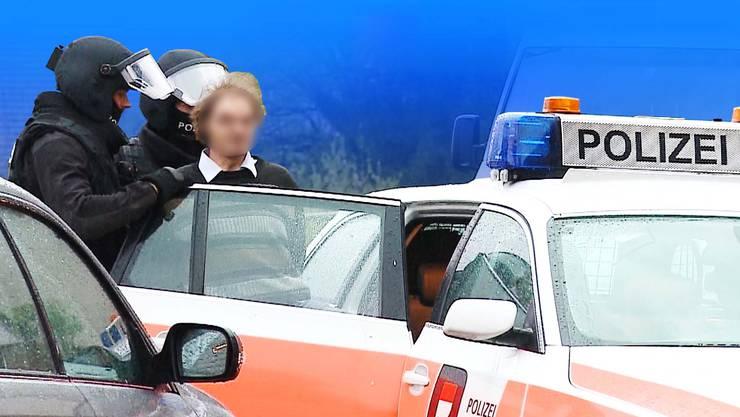 Die Polizei führt J. ab.