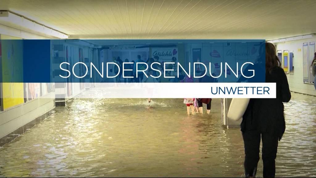Tele M1 mit Sondersendung über die Wasserfluten im Aargau