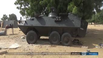 Die Terrororganisation präsentierte das Bild des Radpanzer des Typs Piranha I 6x6, hergestellt vom Kreuzlinger Rüstungskonzern Mowag.