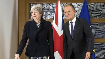 Sind dem Austritt Grossbritanniens aus der EU einen Schritt näher gekommen: Theresa May und Donald Tusk.