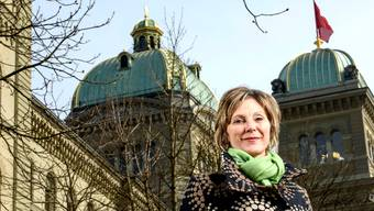 Die Grünen-Nationalrätin Maya Graf muss am 18.Oktober um ihre Wiederwahl ins Bundeshaus zittern. Sie gibt sich aber kämpferisch.