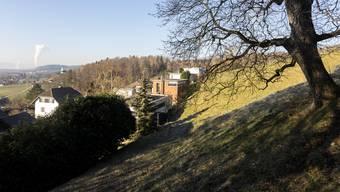 Ein kesselförmiger Geländeeinschnitt: Die Cheslete in Biberstein.