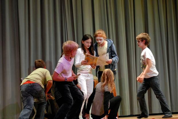Im Zwinglihus ist das  Kindertheater Blitz aufgetreten