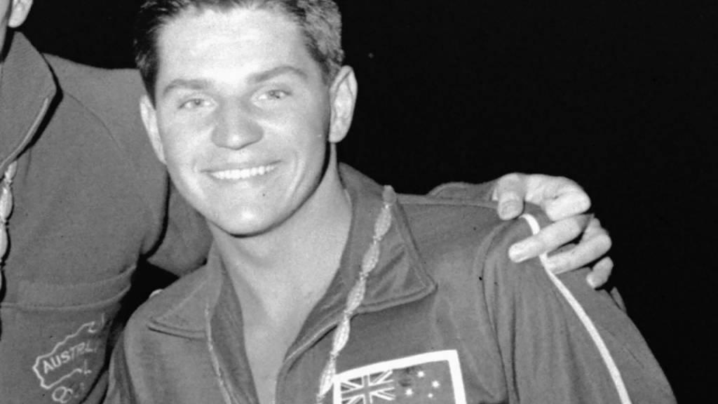 John Konrads stand bei den Olympischen Spielen 1960 in Rom dreimal auf dem Podest