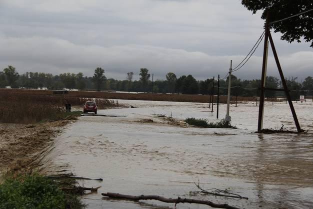 Extremes Hochwasser bei Alexandria nach 500 mm in ca. 6h