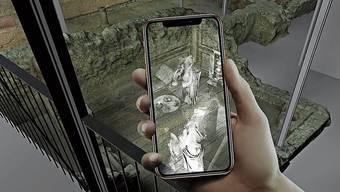 Mit dem Smartphone durch die Ausgrabungen – so heisst das neue Konzept.
