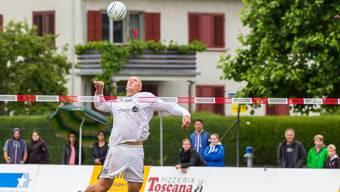 Die Oberentfelder – im Bild Nicolas Schwander – mussten sich dem Schweizer Meister aus Wigoltingen geschlagen geben.
