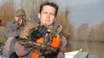 Ausnahmsweise ist der «Fang» von Jungfischer-Obmann Andreas Kummer nicht essbar