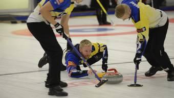 Curling Baden Masters Final Schweden (Skip Niklas Edin) gegen Norwegen (Skip Thomas Ulsrud)