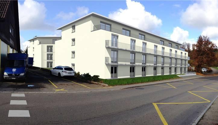 So wird das Hotel in Dättwil aussehen (Visualisierung).
