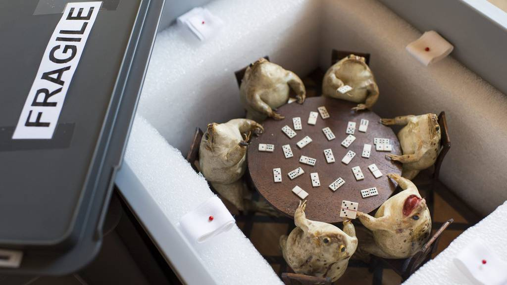 Einblick ins Frosch-Museum im Jahr 2013
