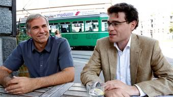 Sie wollen in die Basler Regierung: Lorenz Nägelin (SVP, links) und Emmanuel Ullmann (GLP).Kenneth Nars
