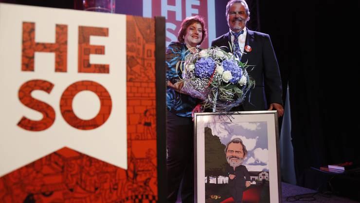 An der HESO-Eröffnung wurden Marlies und Roger Saudan geehrt