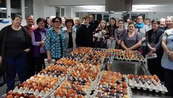 Im letzten Jahr färbten Trachtengruppe und Bevölkerung 1200 Ostereier.