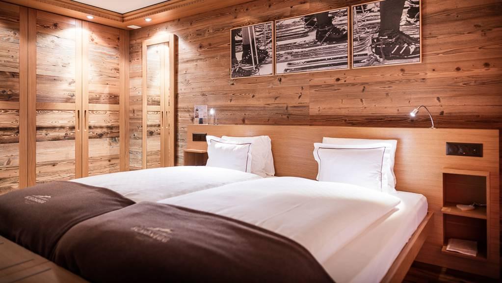 Es gibt insgesamt 48 Zimmer, inklusive Suiten