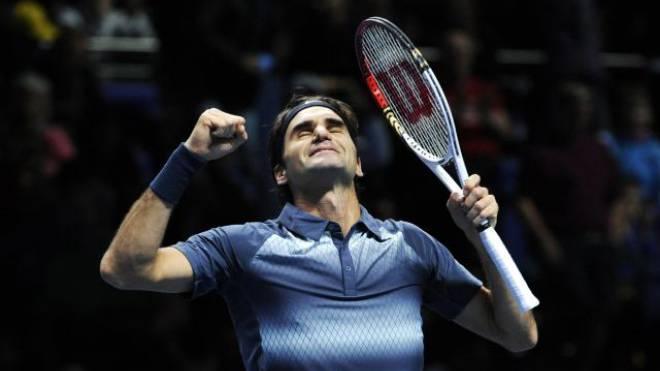 Der Moment nach dem verwandelten Matchball: Roger Federer wird von seinen Emotionen überwältigt. Foto: FACUNDO ARRIZABALAGA/Keystone