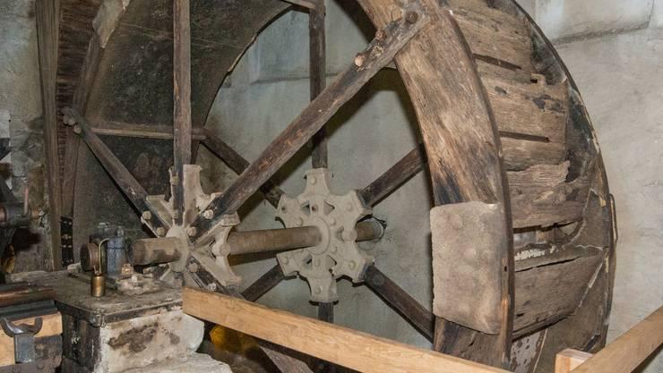 Das Mühlenrad ist eines der ältesten in der Schweiz. (Archivbild)