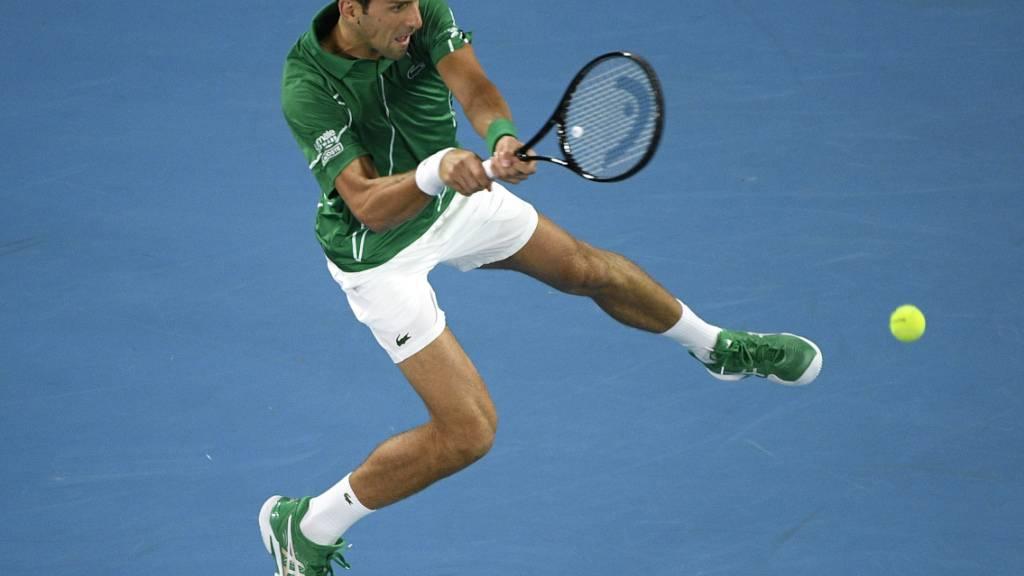 Novak Djokovic kassierte gegen Jan-Lennard Struff gleich den ersten Satzverlust im Turnier