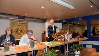 Beatrice Koller, Leiterin der IG, führte am Mittwochabend souverän durch die Infoveranstaltung.