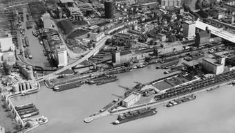 In Basel wird Hafeninfrastruktur neu gebaut