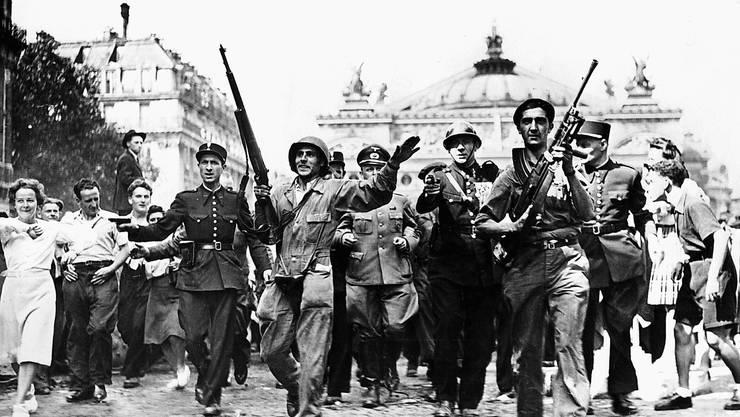 Am 25. August 1944 befreiten Kämpfer der Résistance gemeinsam mit den Alliierten die französische Hauptstadt Paris.