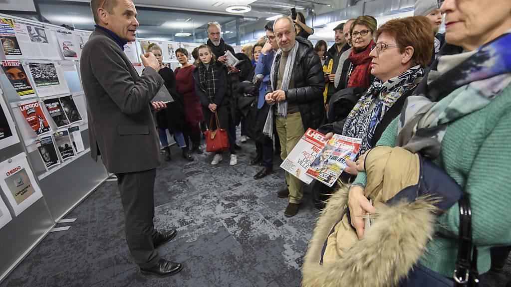 """Die """"L'Hebdo""""-Leser konnten sich am Samstag an der Gestaltung der allerletzten Ausgabe der Wochenzeitschrift beteiligen."""