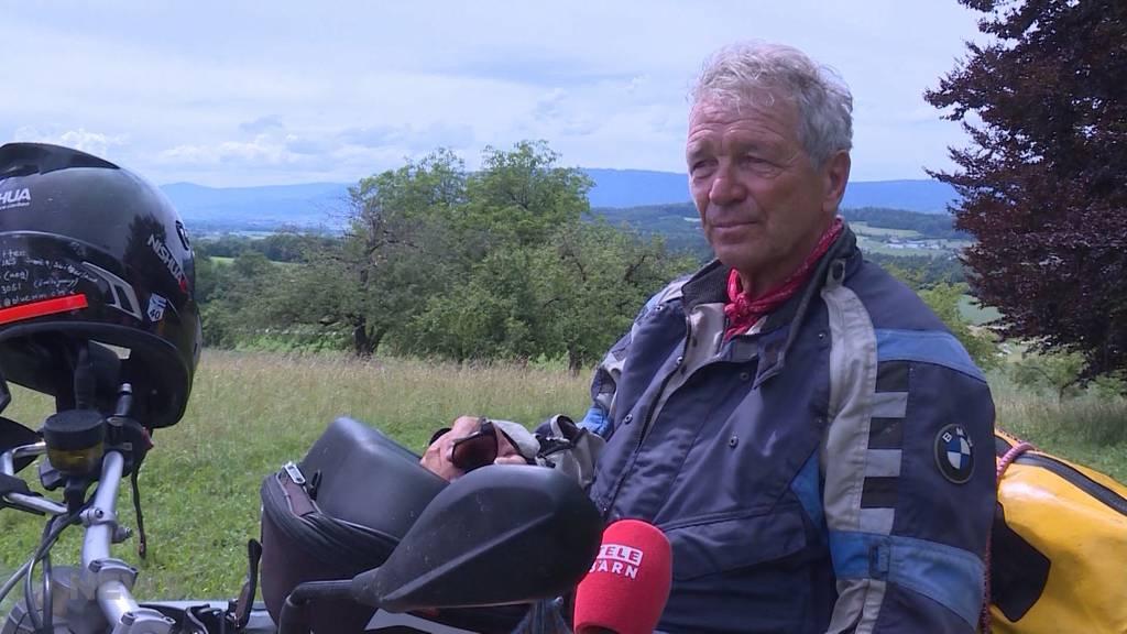 Es ist nie zu spät: 71-jähriger fährt mit dem Motorrad um die Welt