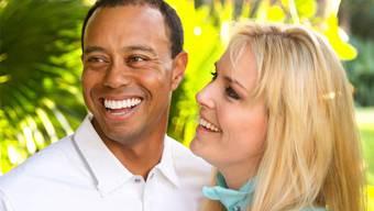 Ja, es soll Liebe sein: Lindsay Vonn und Tiger Woods.