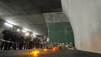 Die Todeswand im Tunnel von Sierre