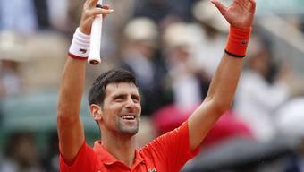 Novak Djokovic leistet bislang in Paris Kurzarbeit